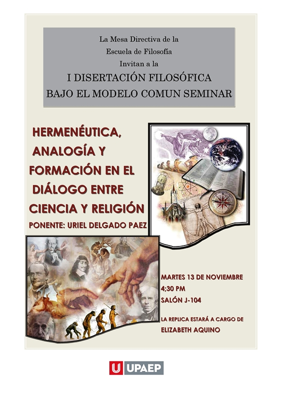 """""""HERMENÉUTICA, ANALOGÍA Y FORMACIÓN EN EL DIÁLOGO ENTRE CIENCIA Y RELIGIÓN"""""""