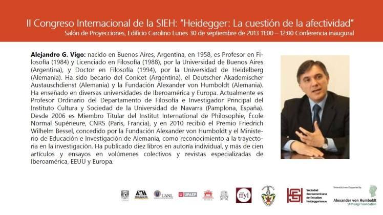 """Lunes 30 de septiembre de 2013. II CONGRESO INTERNACIONAL DE LA SIEH """"HEIDEGGER: LA CUESTIÓN DE LA AFECTIVIDAD"""""""
